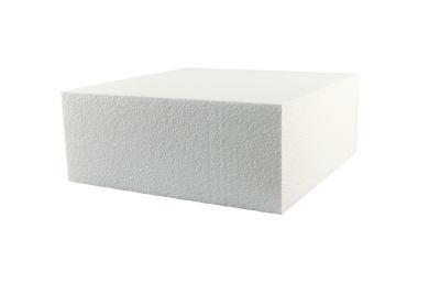 Foam 1-Tier Square Cake Dummy Single (14