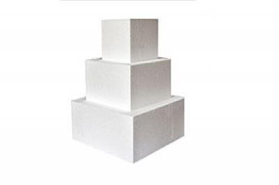 Foam 3-Tier Square Cake Dummy Set (12