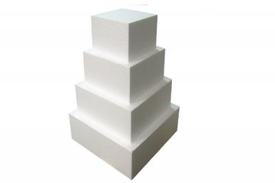 Foam 4-Tier Square Cake Dummy Set (16