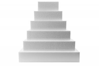 Foam 6-Tier Square Cake Dummy Set (14