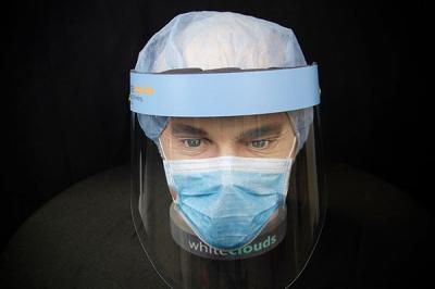 PPE Face Shield on Mannequin